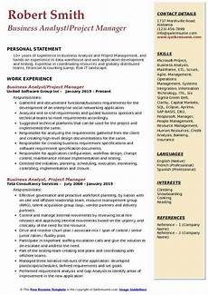 Business Analyst Project Manager Resume Sample Business Analyst Project Manager Resume Samples Qwikresume
