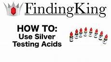 Silver Testing Solution Color Chart How To Test Silver Using Silver Acid Youtube