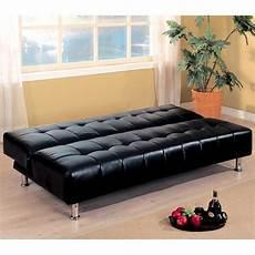 coaster 300118 black leather sofa bed a sofa