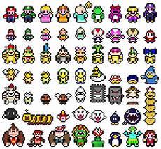 Pixelated Mario Characters Pixel Mario Sprites By Mudkat101 On Deviantart
