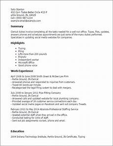 Clerical Resume Template Professional Clerical Templates To Showcase Your Talent