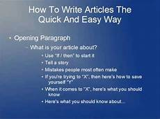How To Write Copyright How To Write Articles The Quick And Easy Way Youtube