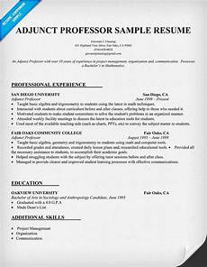 Online Instructor Resume Resume Example For Adjunct Professor Resumecompanion Com