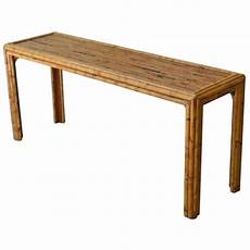 Bamboo Sofa Table 3d Image by Bamboo Console Table At 1stdibs