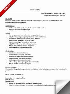 Dental Assistant Objective Examples Dental Assistant Resume Sample Dentist Resume Medical