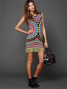 crinochet free connected in crochet fringe dress