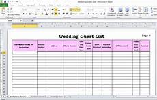 Wedding Excel Template 5 Ways To Plan Your Wedding