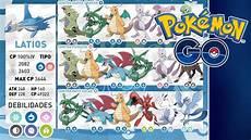 Pokemon Go Latias Iv Chart Nuevas Raids Tabla Ivs Y Como Ganar A Latios Y Latias