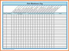 Maintenance Log Spreadsheet Basic Car Maintenance Schedule