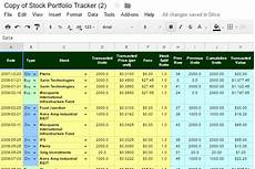 Investment Tracking Spreadsheet Our Free Online Investment Stock Portfolio Tracking