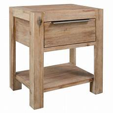 vidaxl nightstand with drawer 40x30x48 cm solid acacia