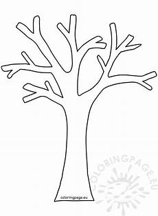 autumn coloring tree without leaves coloring page