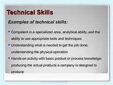List Of Technical Skills Examples 2 4 14 Lecture Ppt Leadership Skills