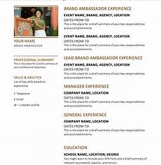 Brand Ambassador Resume 25 Brand Ambassador Resume Tips Atn Event Staffing