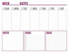 Weekly Schedule Printable Free Printable Weekly Schedule Pages Paper And Landscapes