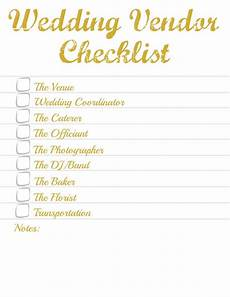 Wedding Vendor Checklist Template Pre Wedding Travel And Vendor Checklist