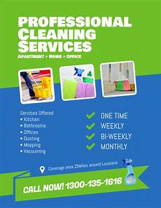 Examples Of Cleaning Business Flyers Professional Cleaning Services Flyer Template Postermywall