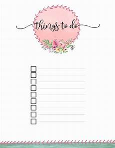Things To Do Template Printable Free Printable To Do List Print Or Use Online Access