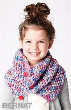 bernat crochet kid cowl crochet pattern yarnspirations