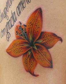 Tiger Lily Flower Designs Beautiful Flower Tattoos Tiger Lily On The Ribs
