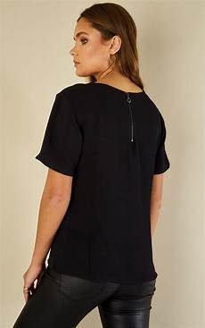 mid sleeve shirts for resistant black mid sleeve t shirt vila silkfred