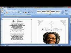 How To Make A Funeral Program Make A Funeral Program Youtube