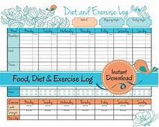Weight Loss Logs Weight Loss Journal Food Diet Exercise Log Diet Log Food