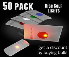 Disc Golf Lights 50 Pack Of Flat Led Lights For Disc Golf And Crafts Extreme