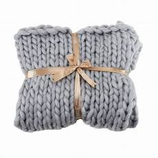handmade chunky knitted woven blanket large soft throw