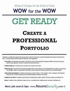 Samples Of Career Portfolios How To Create A Professional Job Search Portfolio Resume