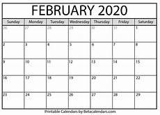 Calendars January 2020 February 2020 Blank February 2020 Calendar Printable Beta Calendars