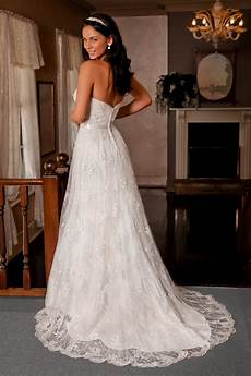 strapless vintage lace tulle wedding dress with corset