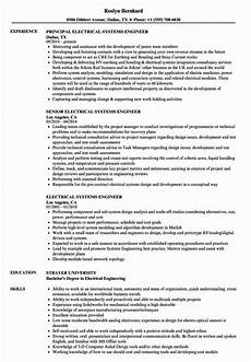 Systems Engineer Resume System Engineering Resume Examples Awesome Electrical