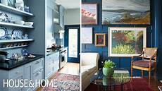 interior design before after colourful filled