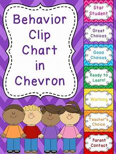 Chevron Behavior Clip Chart Miss Giraffe S Class 20 Classroom Management Strategies