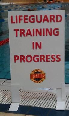 Training In Progress Sign Sthoee Lifeguards Dublin Ireland January 2013