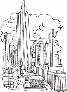 new york city before september 11 2001 coloring page