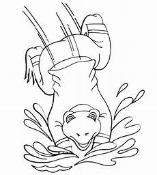Frosch Malvorlagen Jogja Frog Coloring Page A Dressed Frog Jumping In Water
