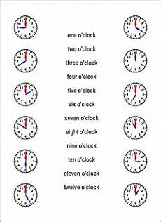 Time Vocabulary For Kids Learning English Printable