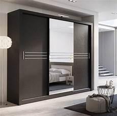 3 sliding door bedroom wooden clothes almirah designs in