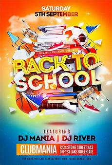 Back To School Flyer Templates 32 School Flyers Templates Psd Ai Pages Word Free