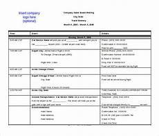 Itinerary Template Pages 18 Itinerary Templates Free Microsoft Word Documents