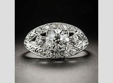 1.15 Carat Art Deco Diamond Engagement Ring   GIA I VVS2