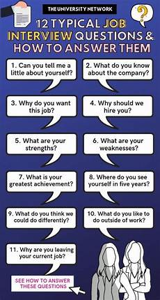 Typical Interview Questions 12 Typical Job Interview Questions How To Answer Them