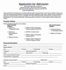School Forms Templates 11 School Application Templates Pdf Doc Free
