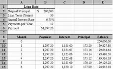 Loan Amortisation Table Excel Loan Amortization With Microsoft Excel Tvmcalcs Com