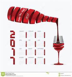 Jo Designs By Wine Calendar 2017 Calendar Happy New Year Vector Design Abstract