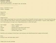 contoh surat undangan rapat karang taruna desa acara 17