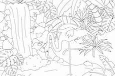 dieses flamingo ausmalbild im pdf format und weitere