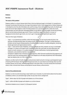 An Essay About Health Diabetes Essay Year 12 Hsc Personal Development